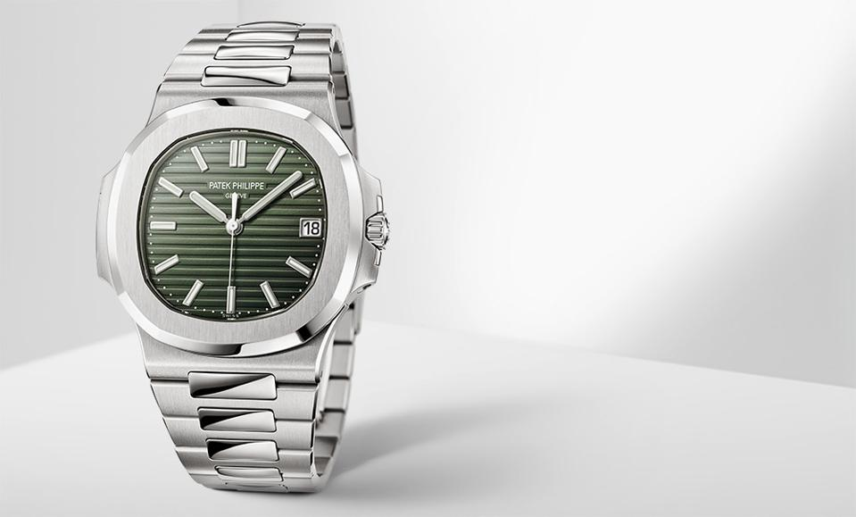 The new Patek Philippe Nautilus 5711-1A, with green dial.