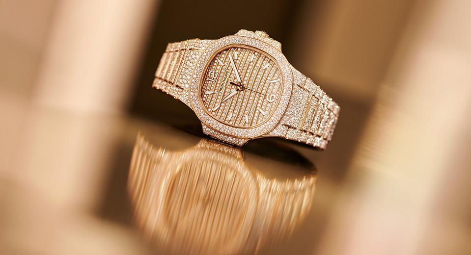 The high jewelry version of the new Patek Philippe Nautilus.