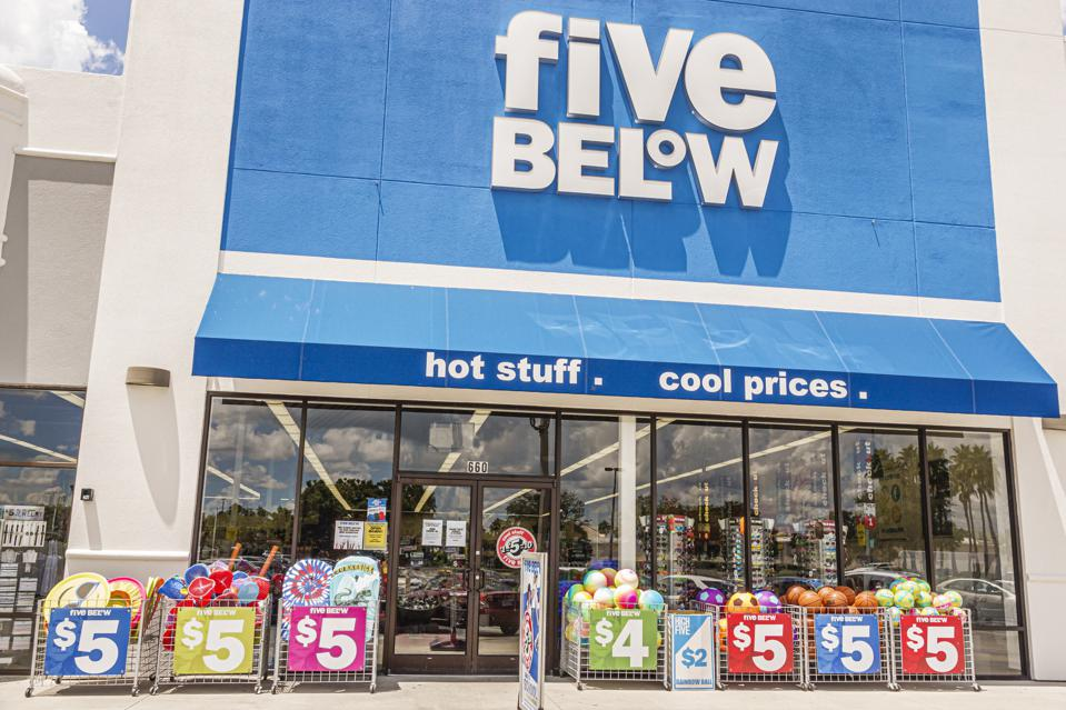Florida, Orlando, Five Below, specialty discount store with sale bins out front