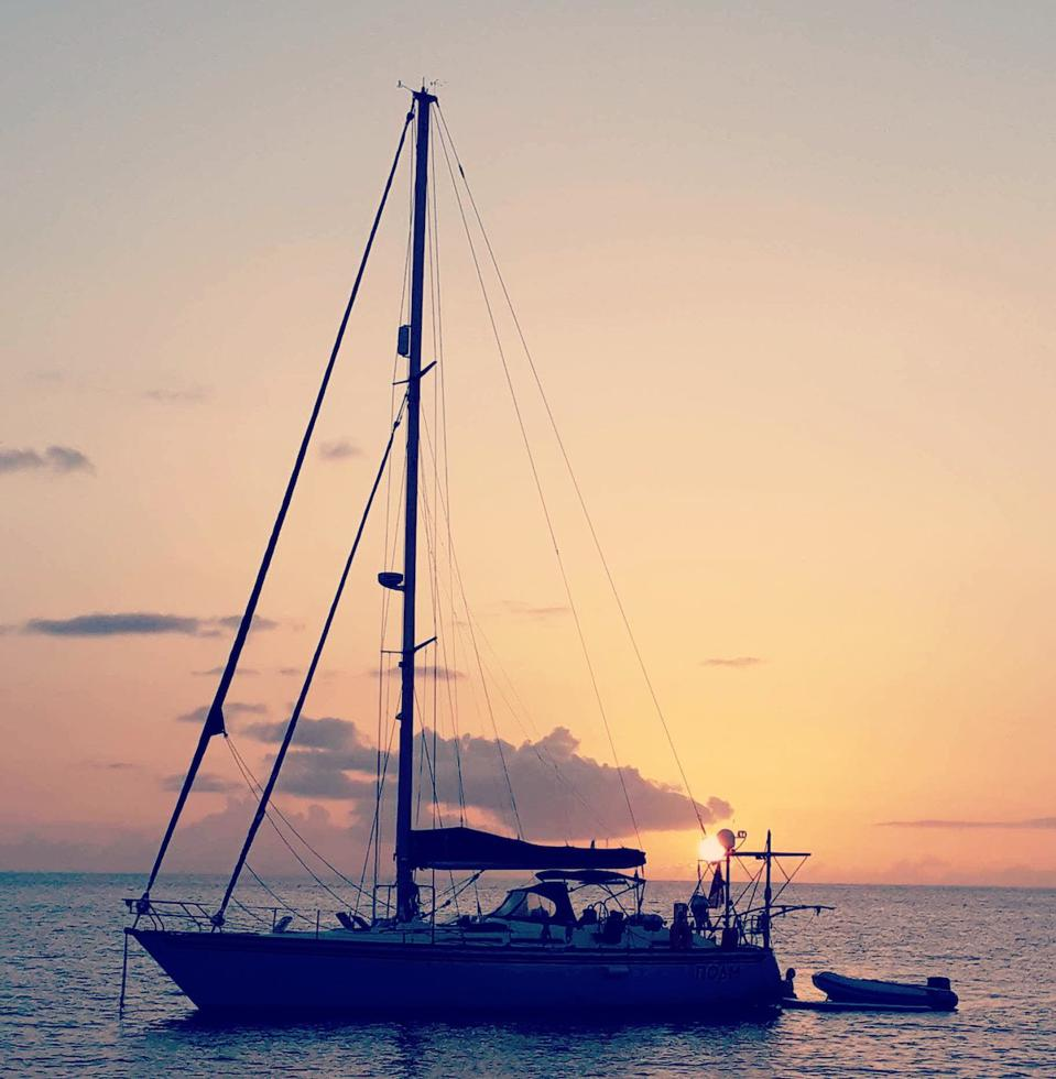 sunset sailboat yacht remote work