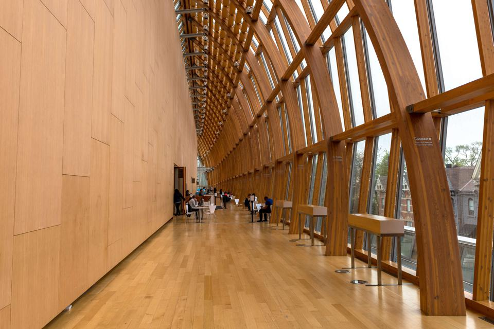 The Art Gallery of Ontario (AGO): Wooden structure that is...