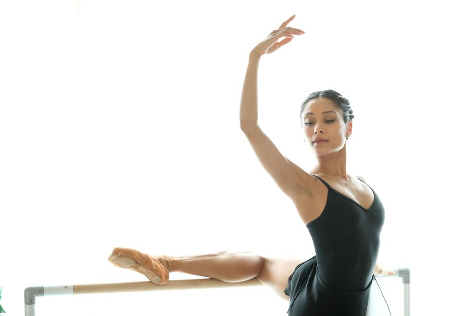 First soloist with the National Ballet of Canada, Tina Pereira, practices in her loft. Tina also gives classes on the Ballets instagram feed, @nationalballet,
