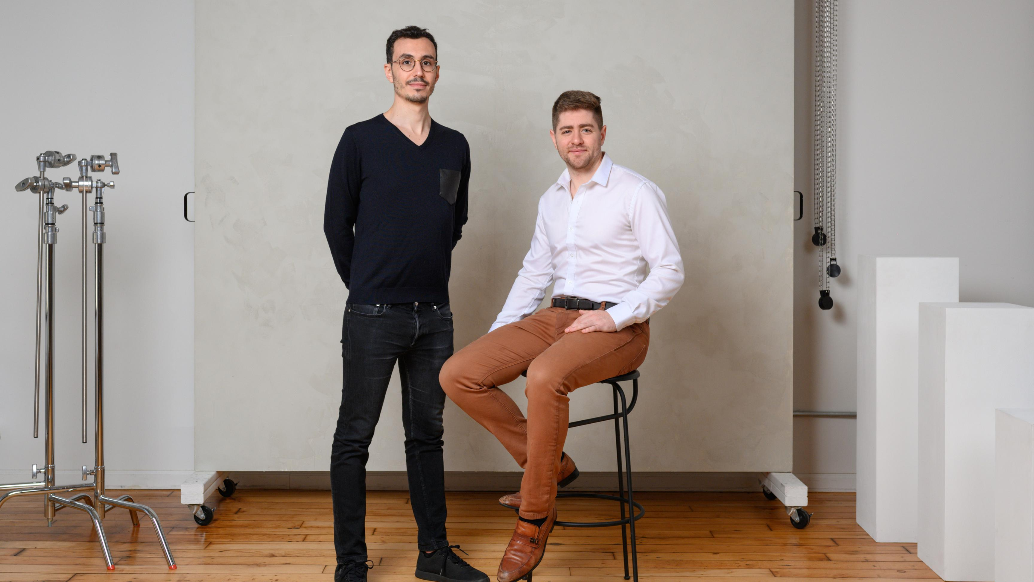 The cofounders of Ramp, a corporate credit card startup based in New York City.
