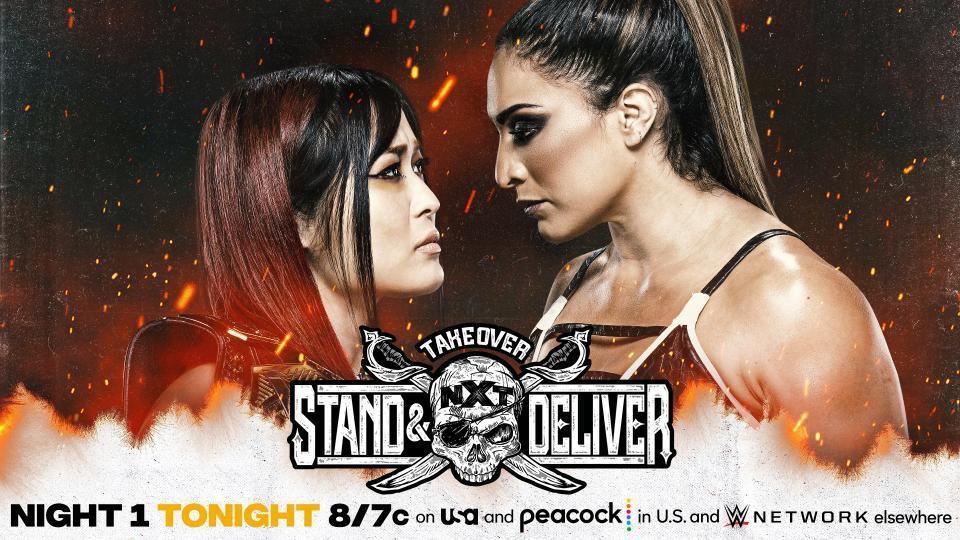 WWE NXT TakeOver: Stand and Deliver apresentando Io Shirai vs. Raquel Gonzalez.