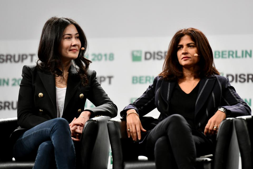 Sequoia's Luciana Lixandru and Accel's Sonali De Rycker when the two were colleagues.
