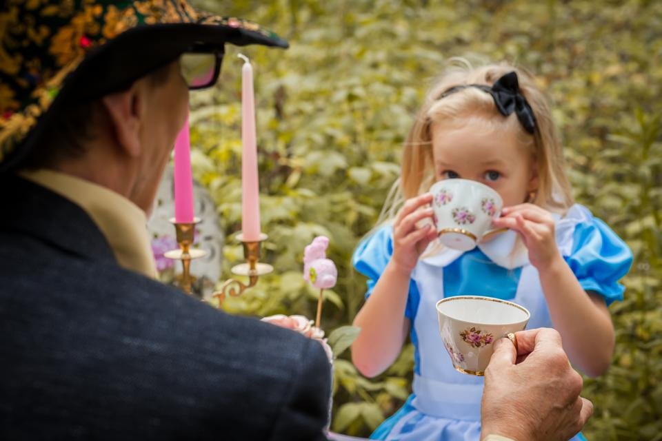 An Alice in Wonderland tea party with the Mad Hatter