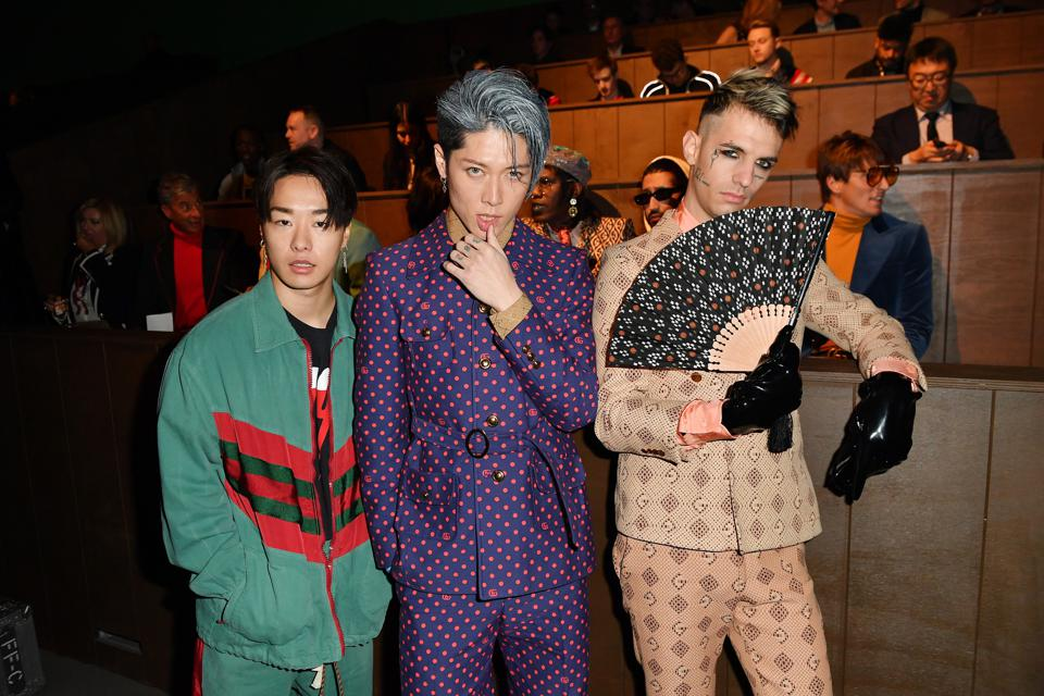 Gucci - Front Row - Milan Menswear Fashion Week Fall/Winter 2020/21