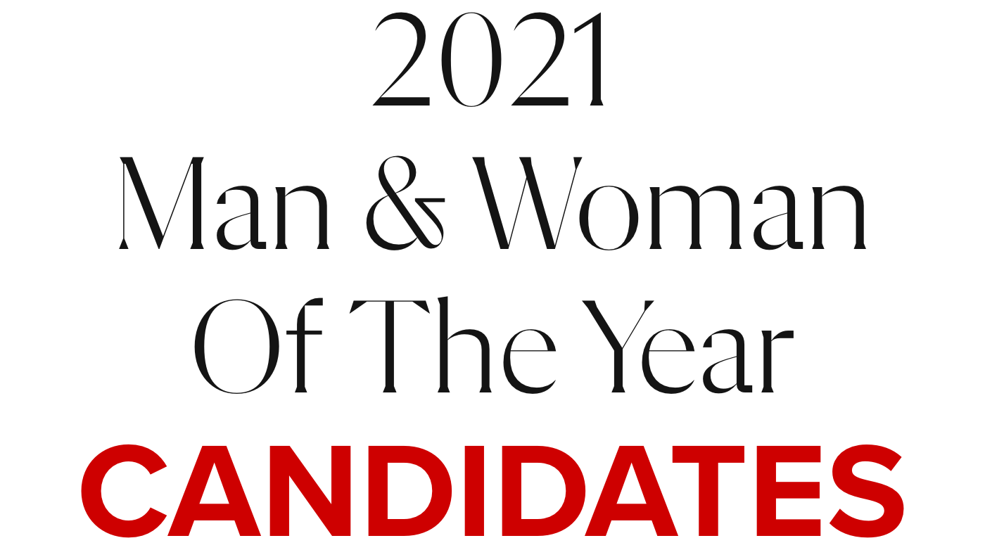 2021 MAN & WOMAN OF THE YEAR CANDIDATES