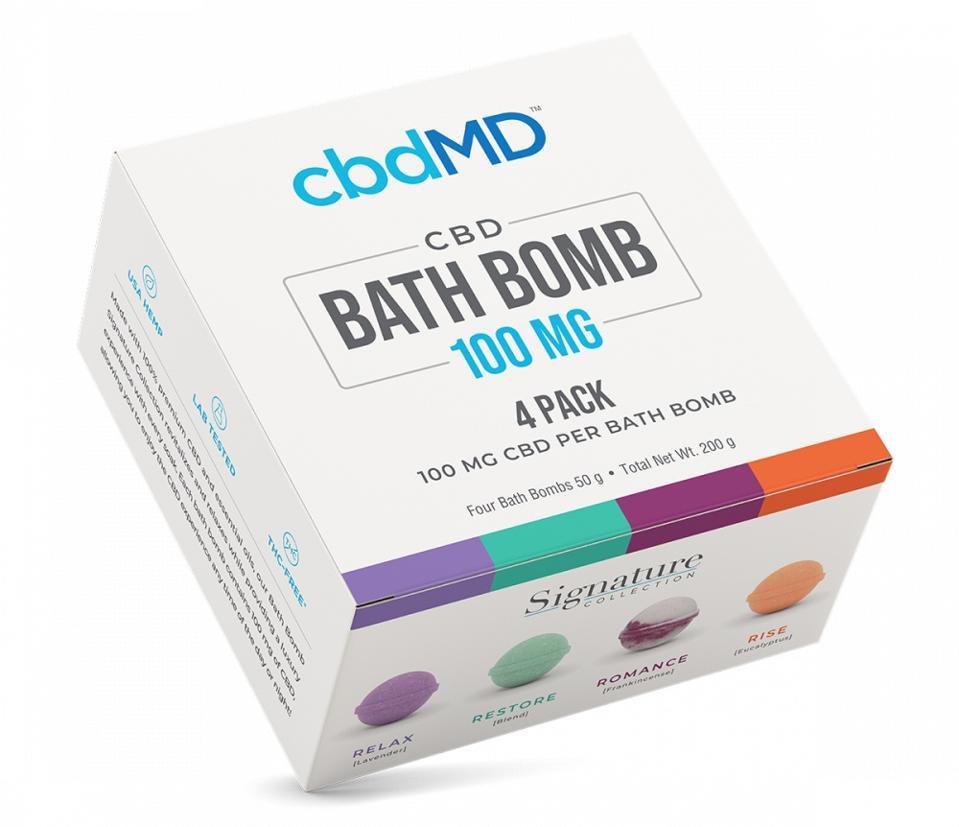 cbdMD: CBD Bath Bomb (4-Pack)