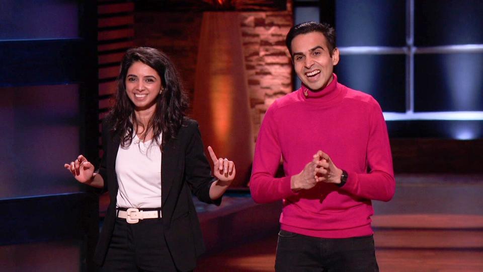 Aisha Chottani and Faheem Kajee present Moment on Shark Tank.
