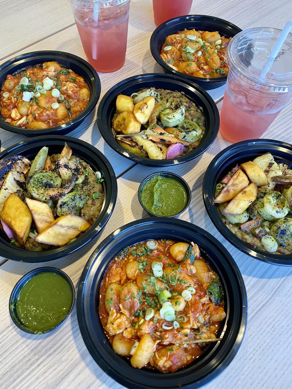 A variety of Pan-African soul dishes.