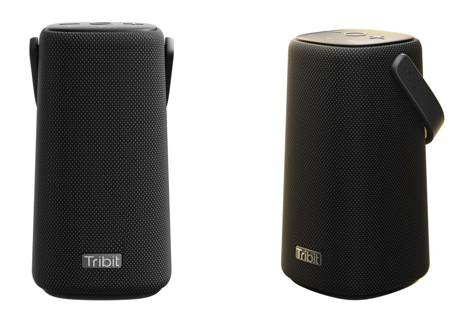 Two views of the Tribit StormBox Pro on a white background