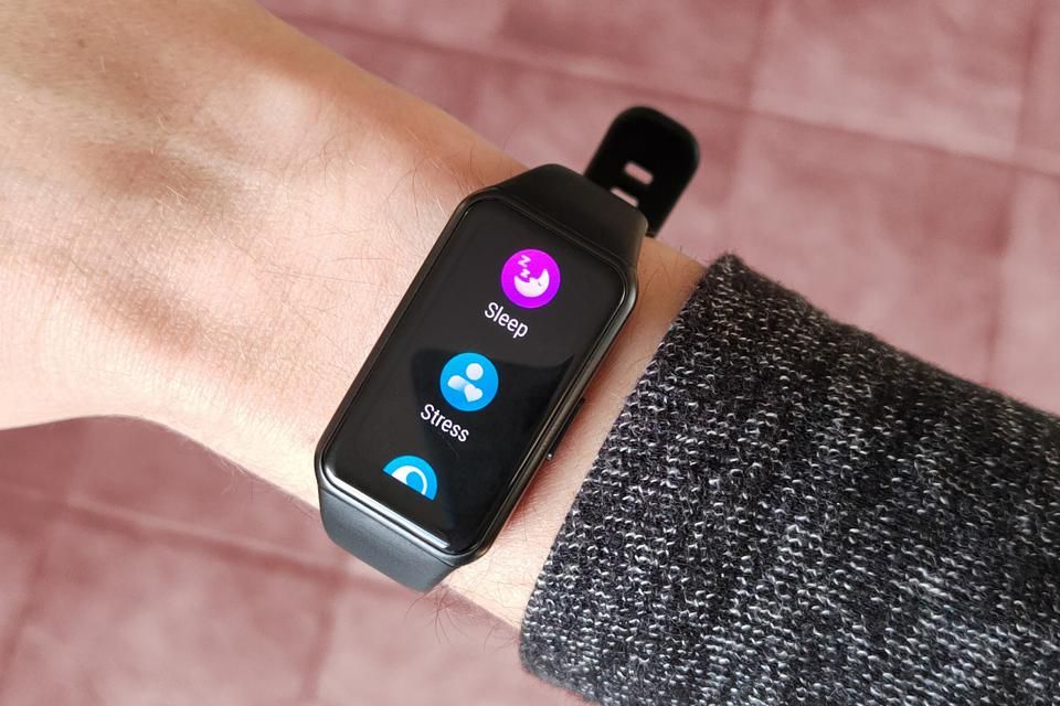 A photo of the Honor Band 6's feature menu.