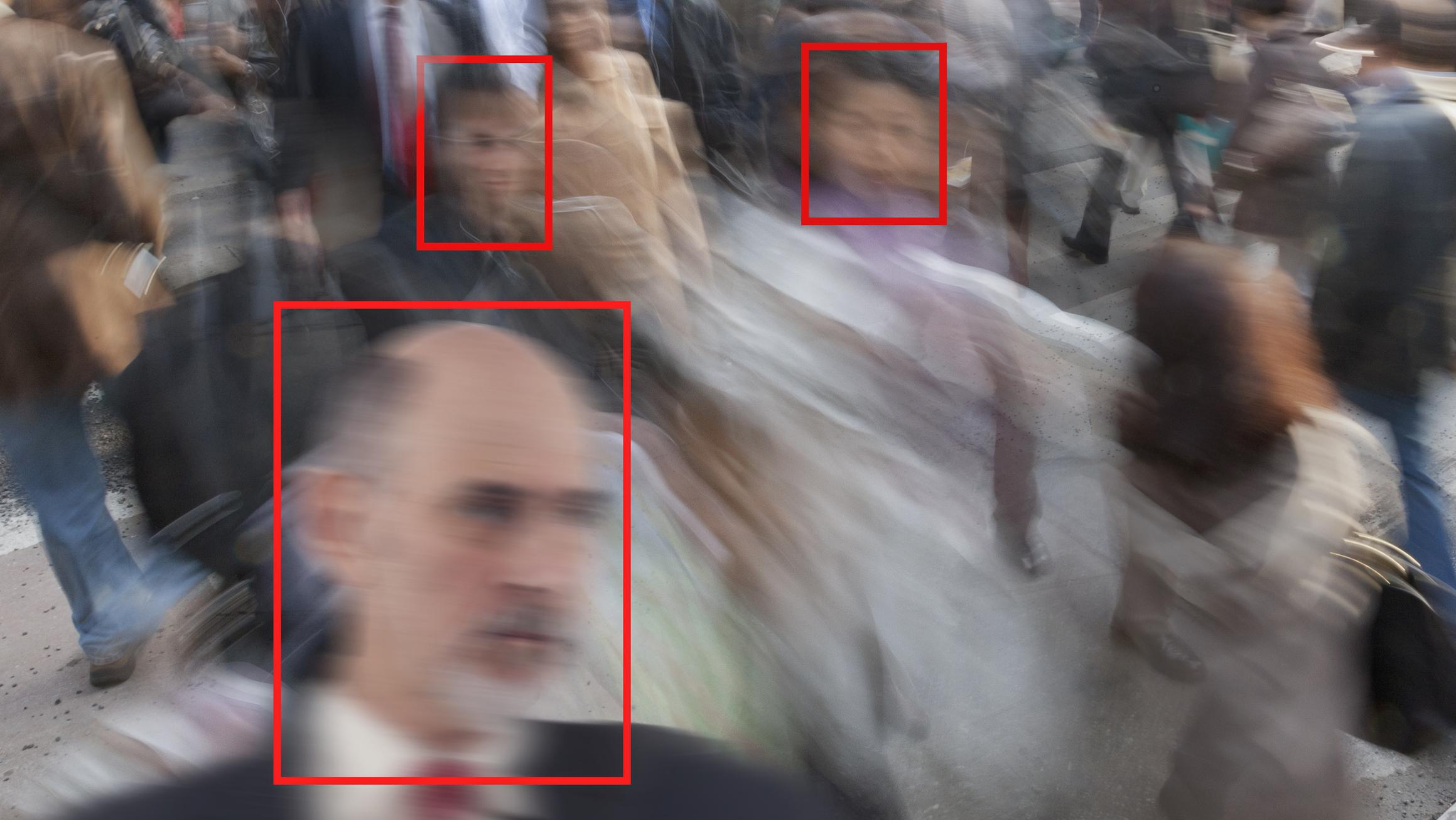 Face recognition in a crowd for surveillance