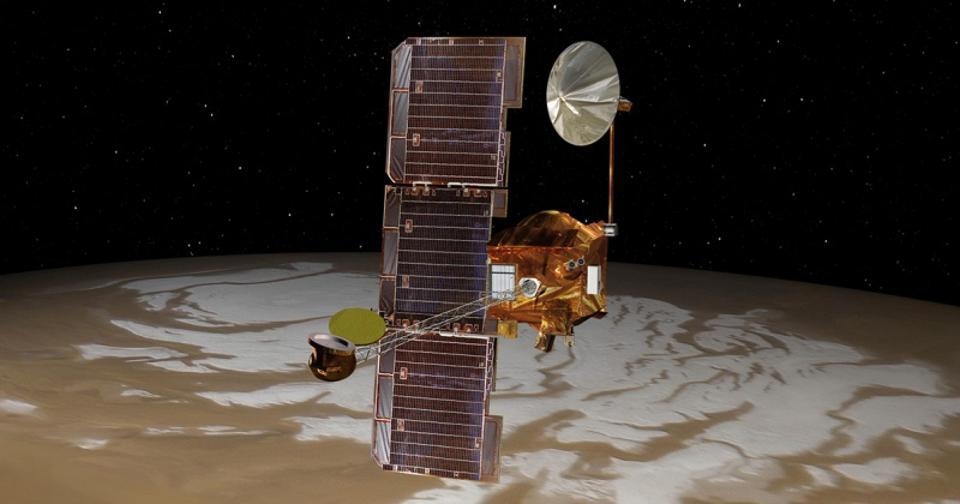 El Odyssey Orbiter de la NASA se lanzó el 7 de abril de 2001 y todavía está en servicio hoy.