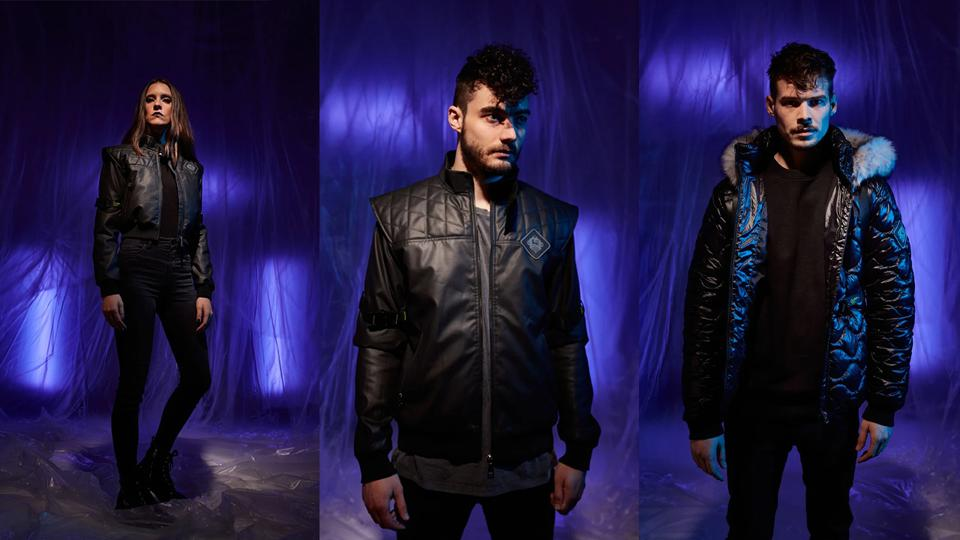 The three jackets from the ARK / 8 Europa collection.