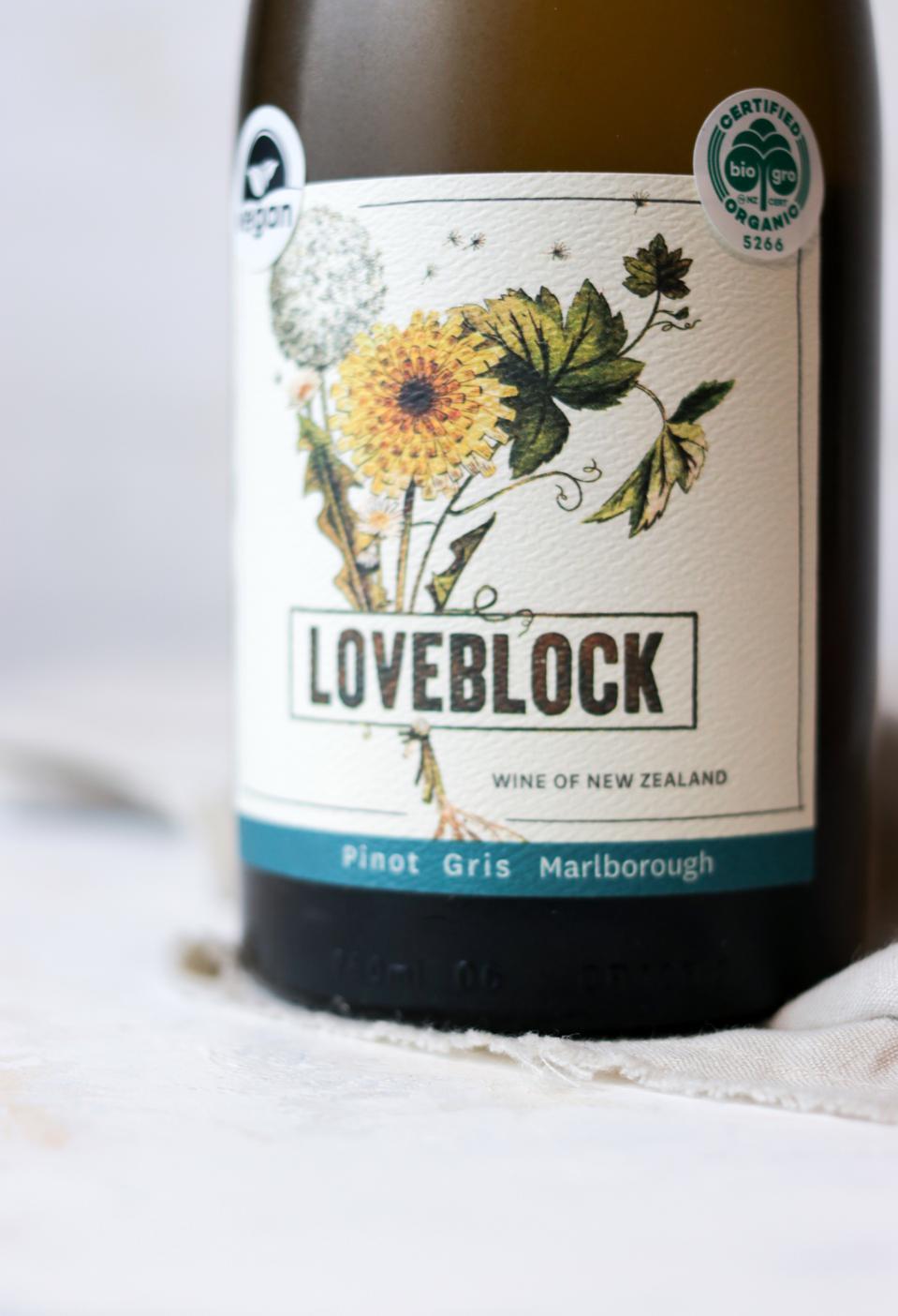 Bottle of Loveblock New Zealand Pinot Gris