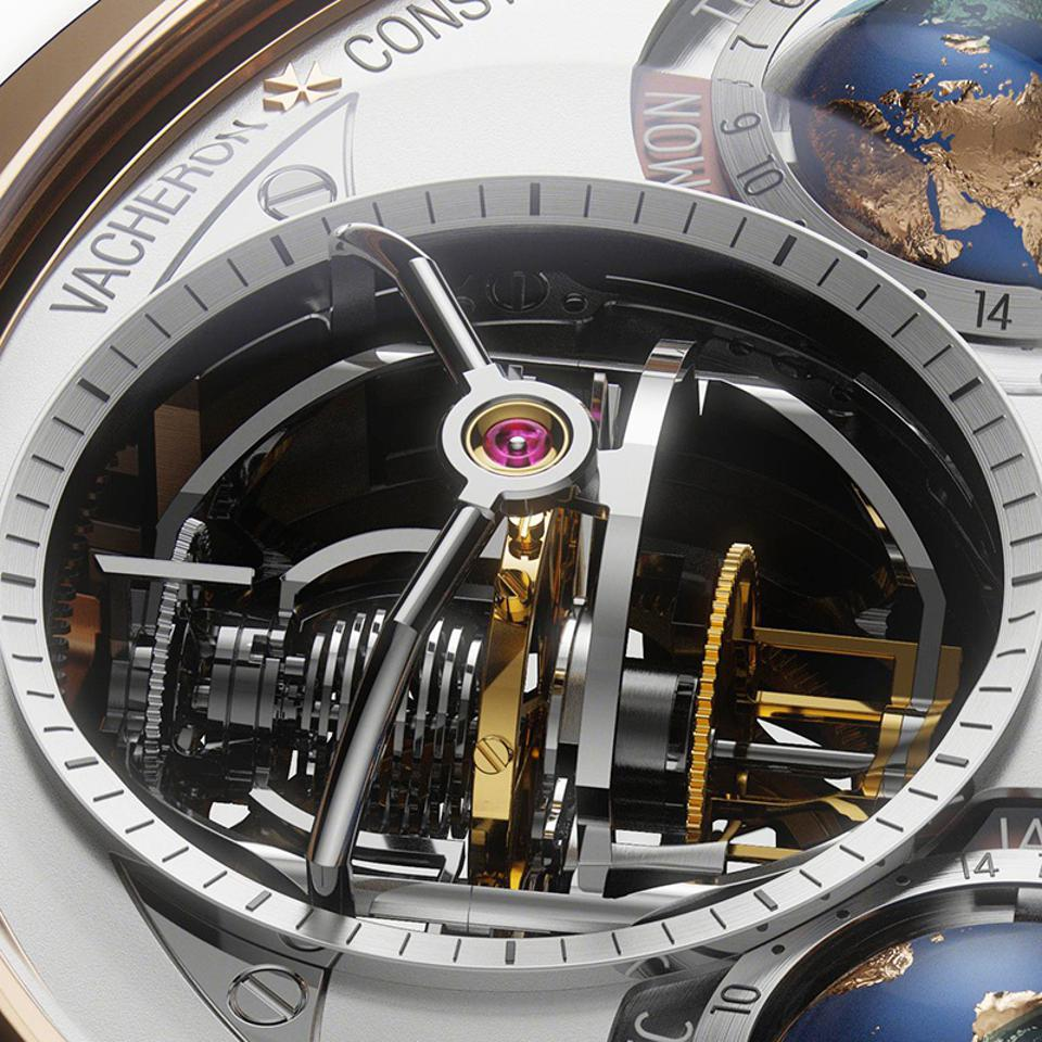 The double-axis spherical hairspring escapement of the Vacheron Constantin Planetaria.