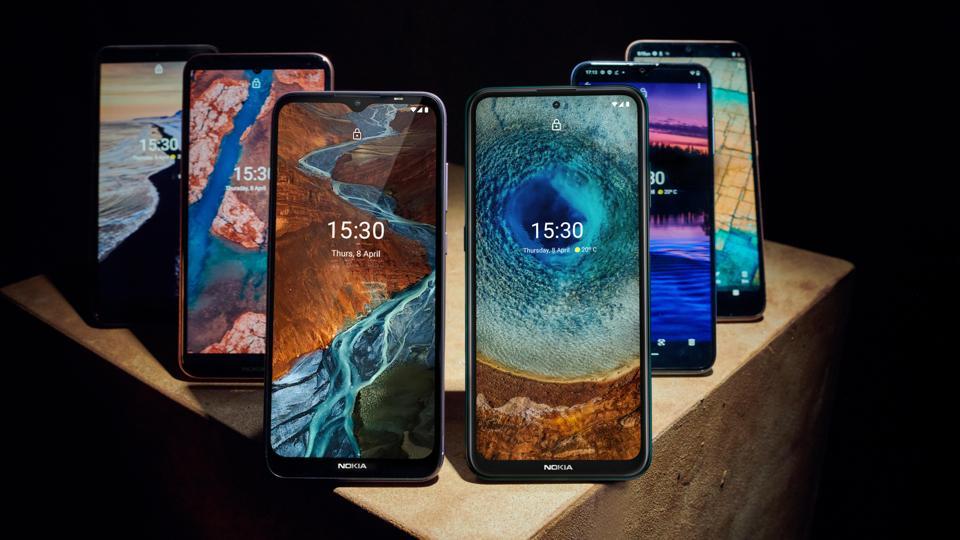 The new Nokia range for April 2021.
