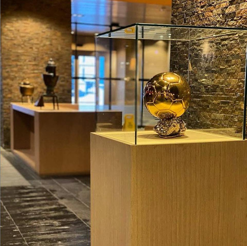 Lionel Messi has a gold soccer ball on display in every hotel property.
