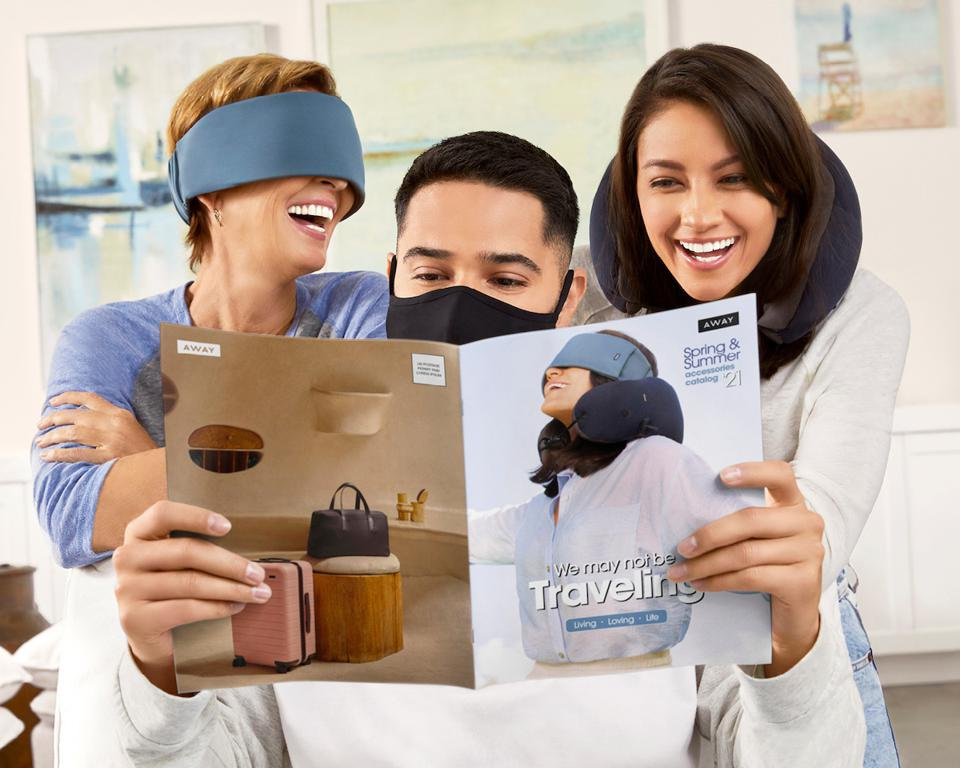 Away has created a nostalgic - and hilarious - direct mail catalog to launch their new line of Travel Accessories.