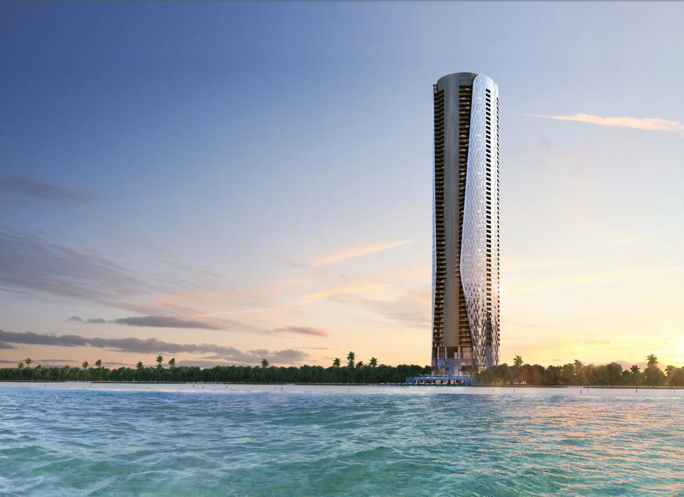 The exterior of Bentley Residences, set to be completed in 2026.