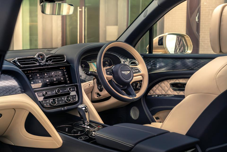 Interior of a Bentley car.
