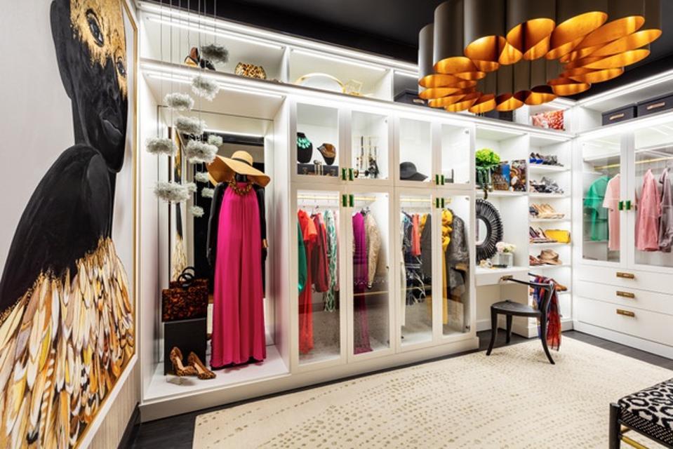 A glamorous closet