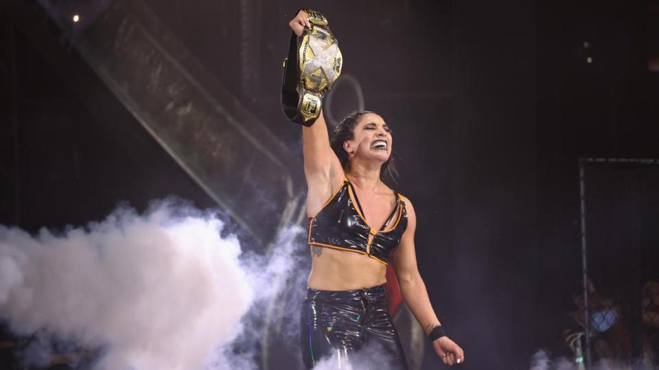 Raquel Gonzalez beat Io Shirai for the WWE NXT Women's Championship.