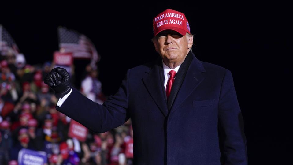 دونالد ترامب في مسيرة ويسكونسن