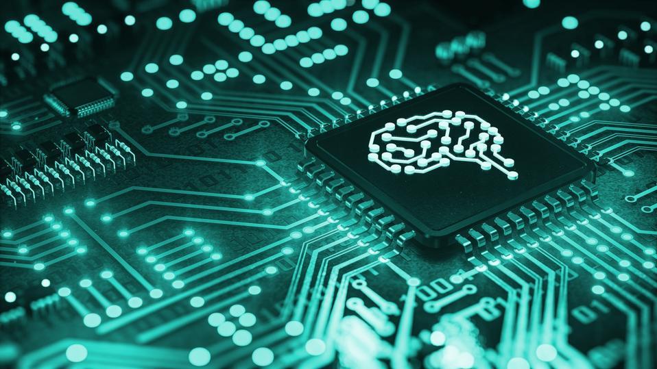 AI artificial intelligence concept Central Computer Processors CPU concept
