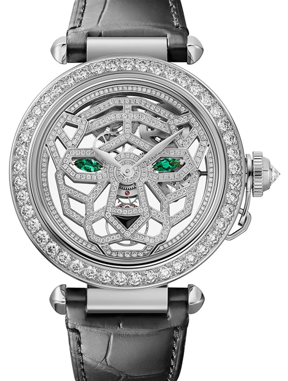 The Panthere high jewelry version of the Cartier Pasha.