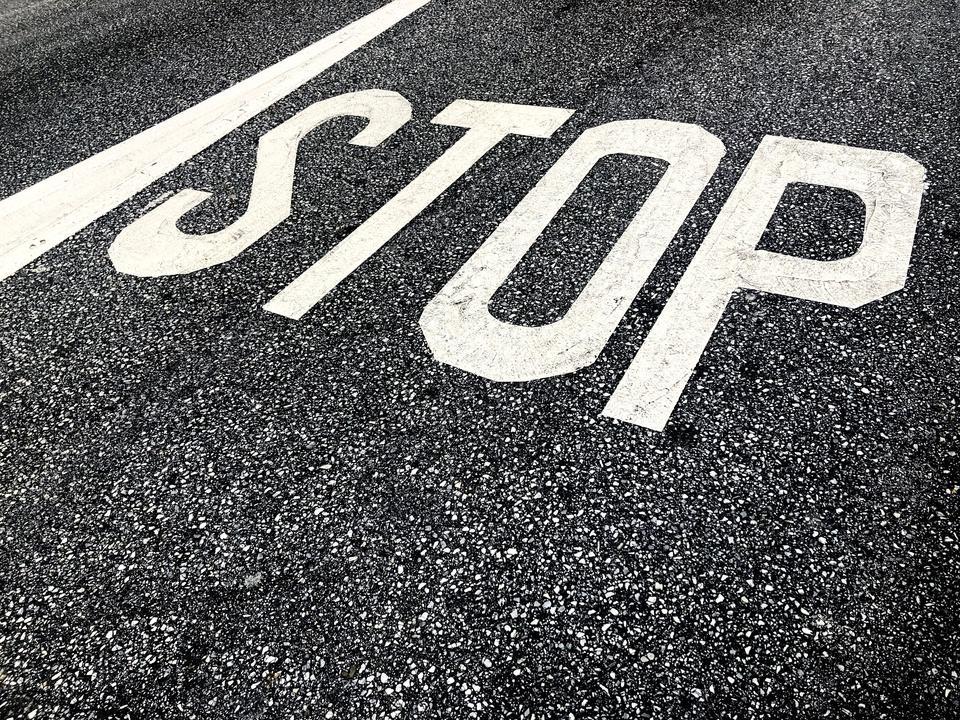 Stop Marking On Street