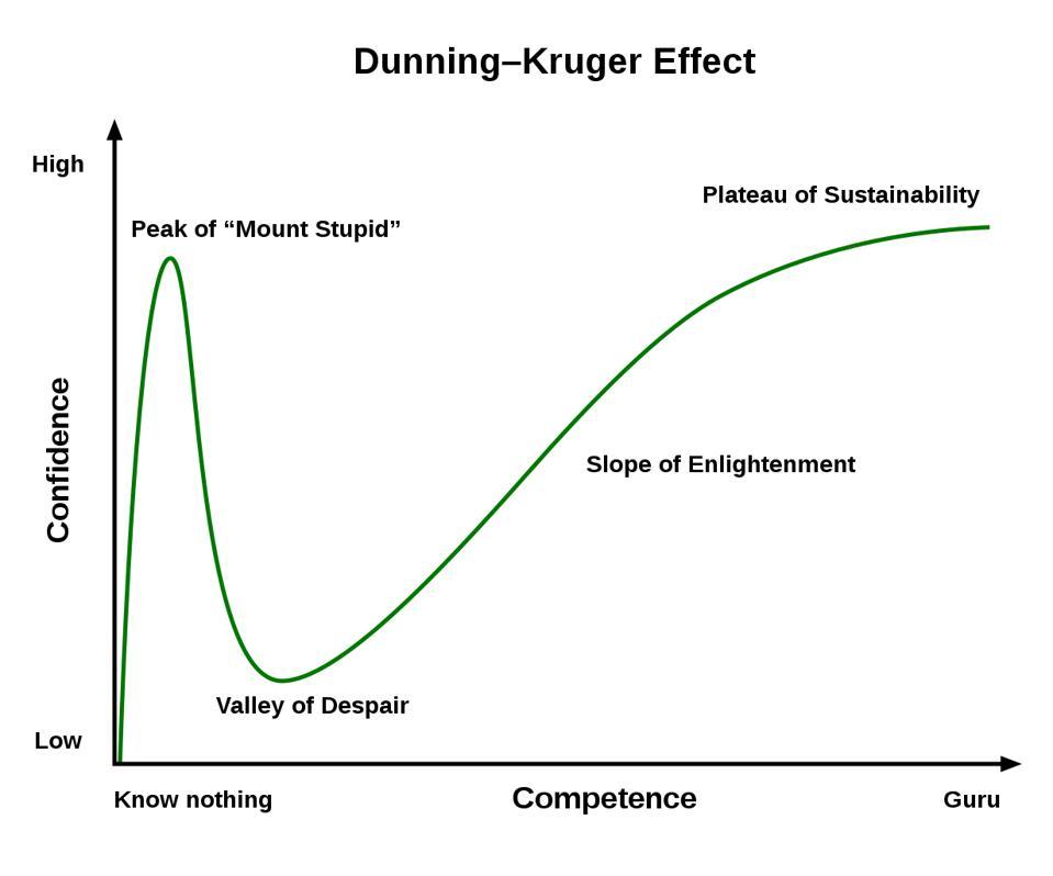 Representation of Dunning-Kruger Effect