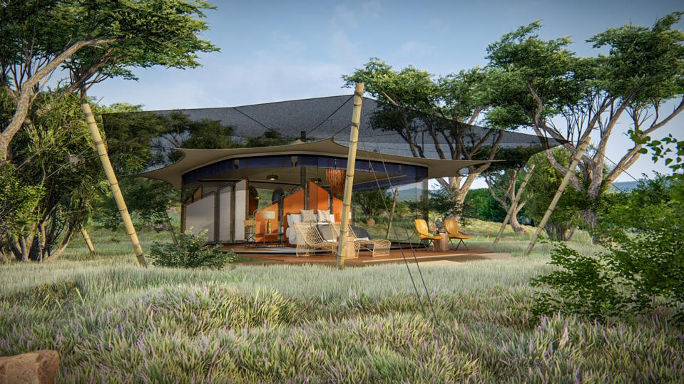 The soon-to-be-launched Siringit Migration Camp by Mantis in Tanzania.