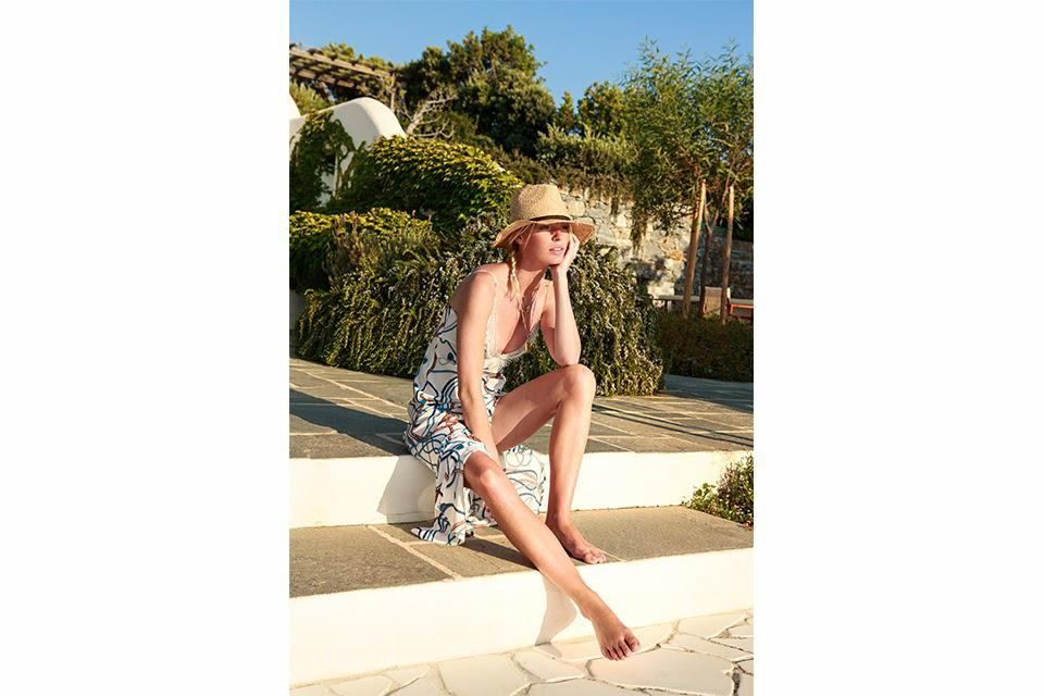 DUNDAS shot the loungewear collection on supermodel Caroline Winberg