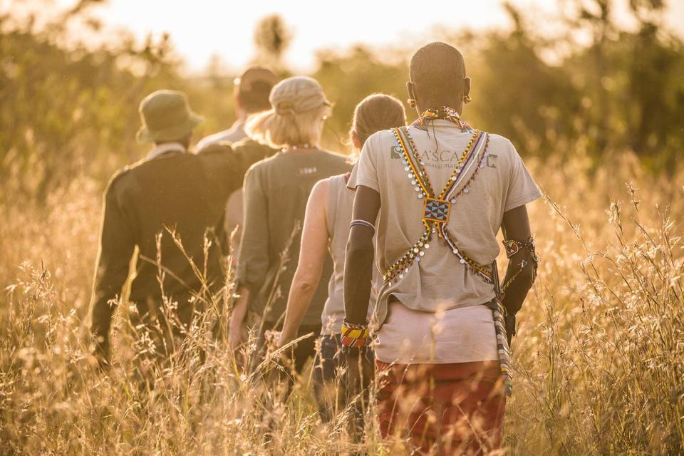 Exploring on foot from Siruai Mobile Camp in Kenya.