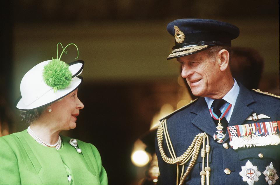 Queen Elizabeth ll and Prince Philip attend the Gulf Parade 1991