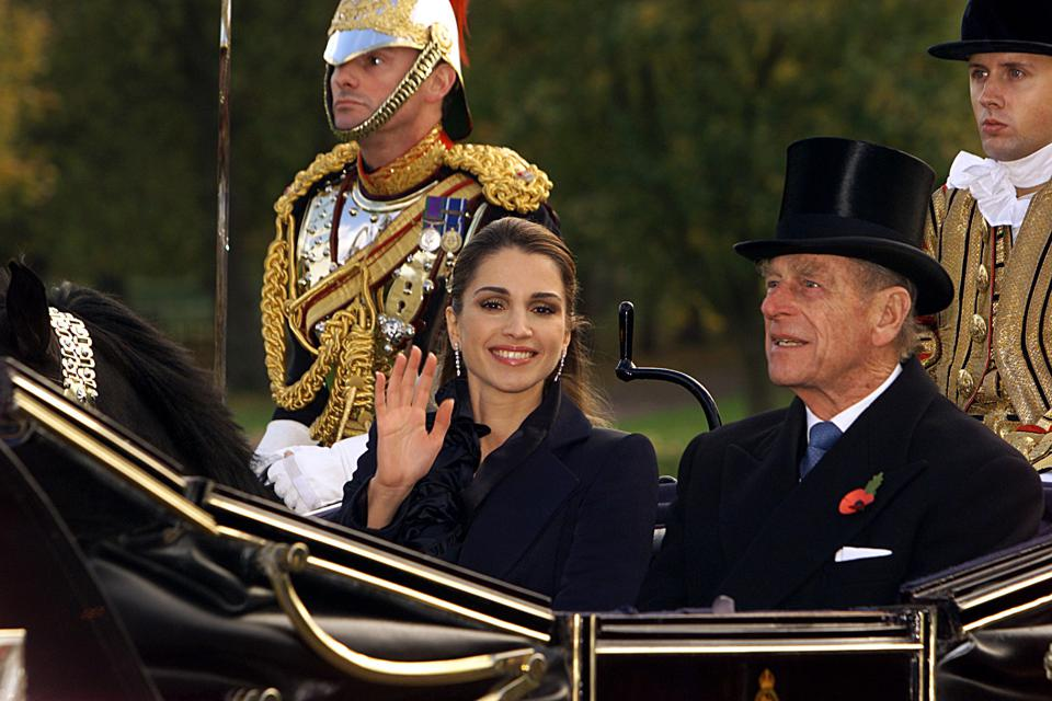 Queen Rania Of Jordan And Prince Philip