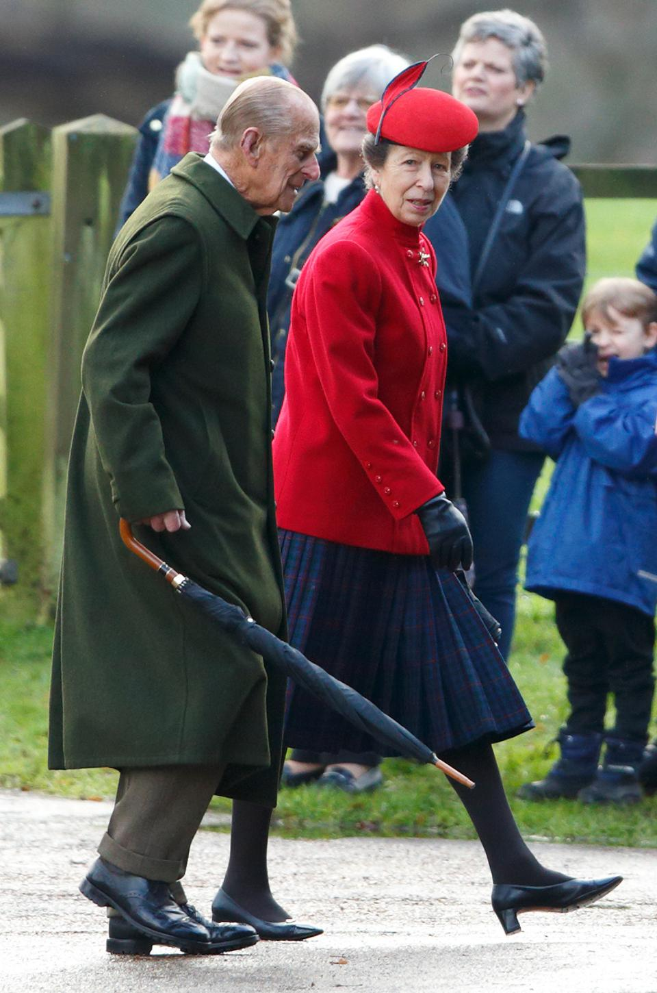 Prince Philip Attends Sunday Service At Sandringham 2015