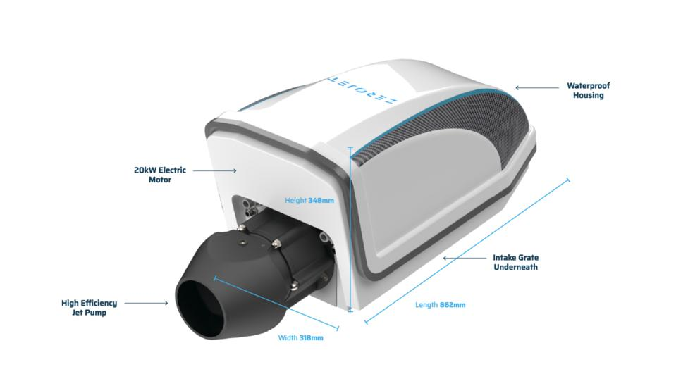 ZeroJet has developed an electric jet drive for boats