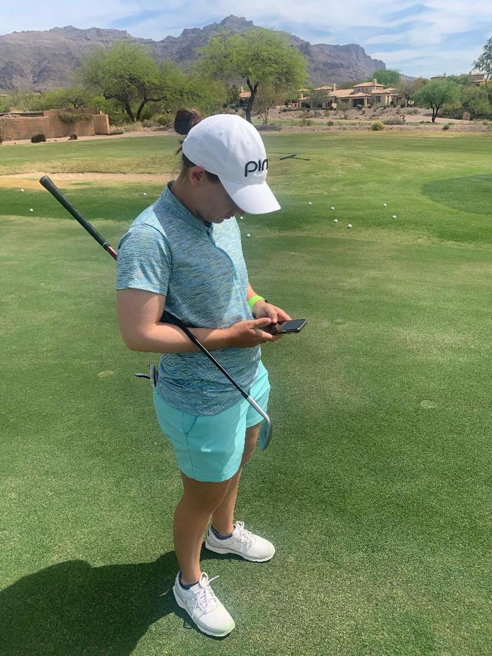 This LPGA Tour pro is learning plenty from the V1 Game app