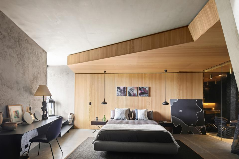 bedroom inside modern home 25 Neerim Road Castle Cove, Sydney, Australia