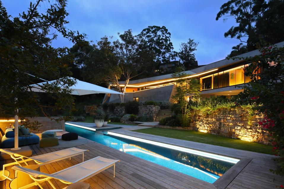 ozone swimming pool at 25 Neerim Road Castle Cove, Sydney, Australia