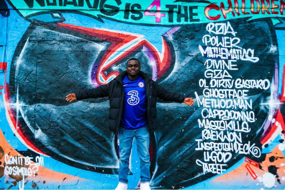 A portrait taken by Mel D. Cole of a Staten Island resident and Black Chelsea F.C. fan.