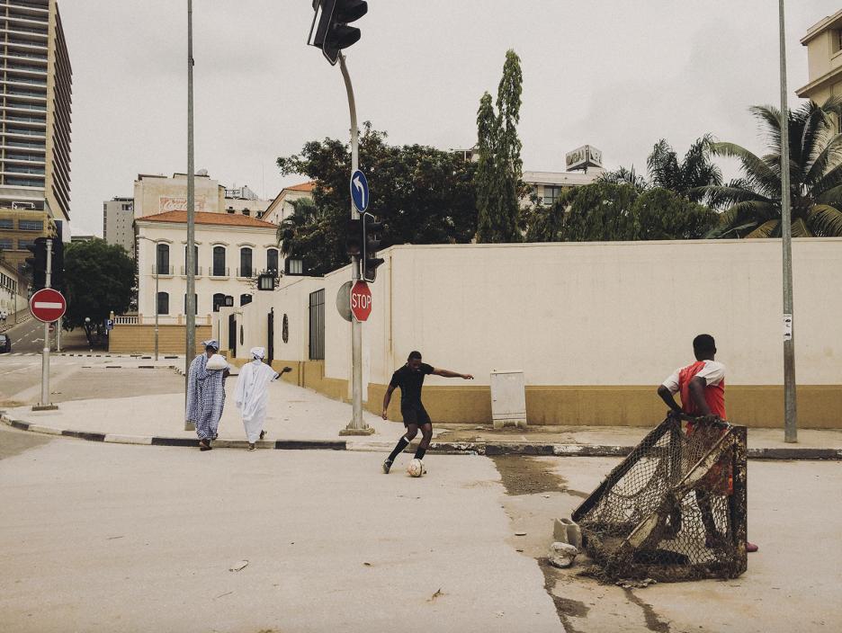 Street soccer in Luanda, Angola 2016.