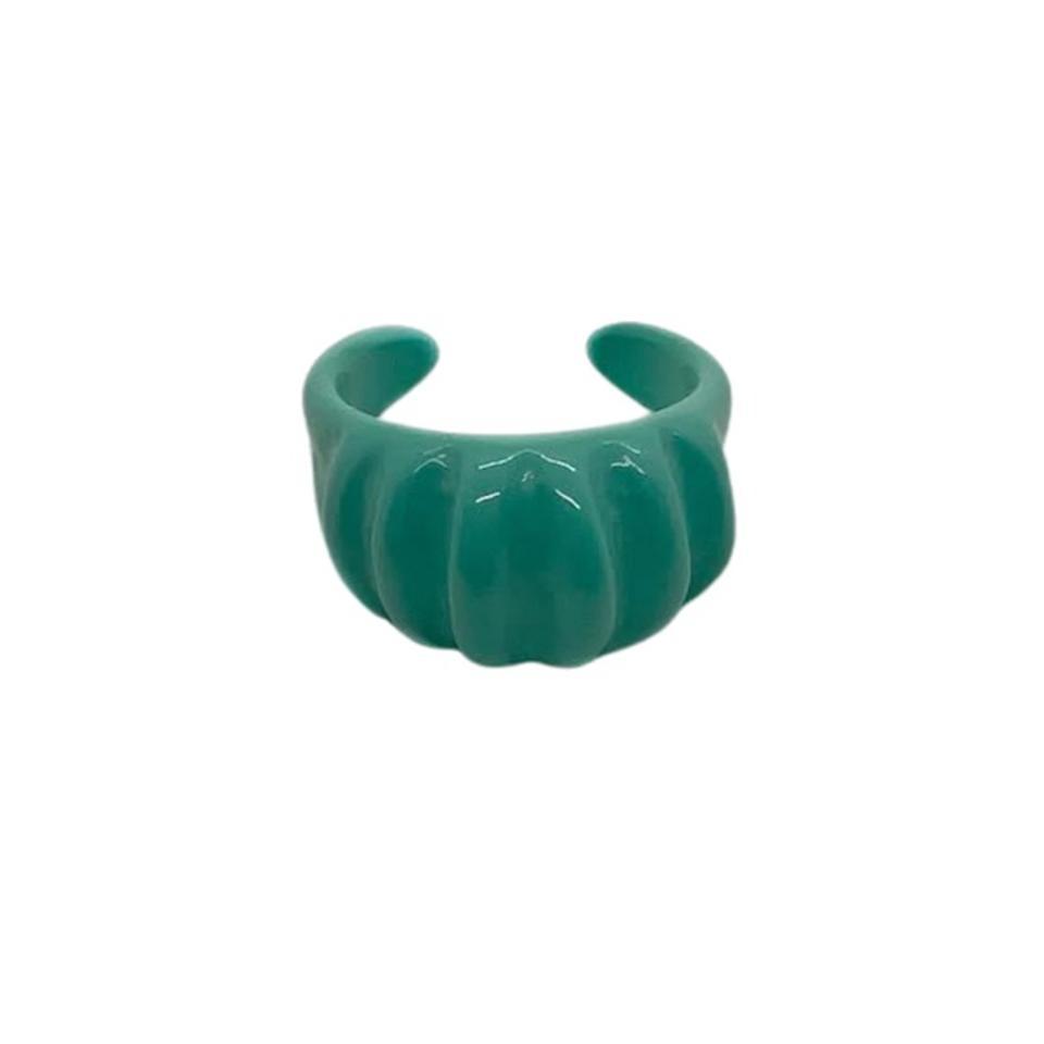VibeSzn Turquoise Ribbed Ring