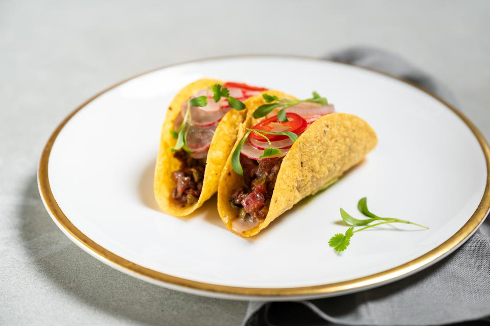 Casa Gets Grilled taco, a collaboration from Casa Calavera and Tom Booton of The Grill at The Dorchester