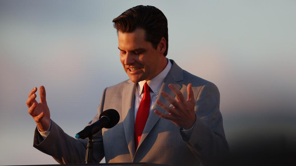 Embroiled Congressman Matt Gaetz Speaks At Women For America First Event In Florida