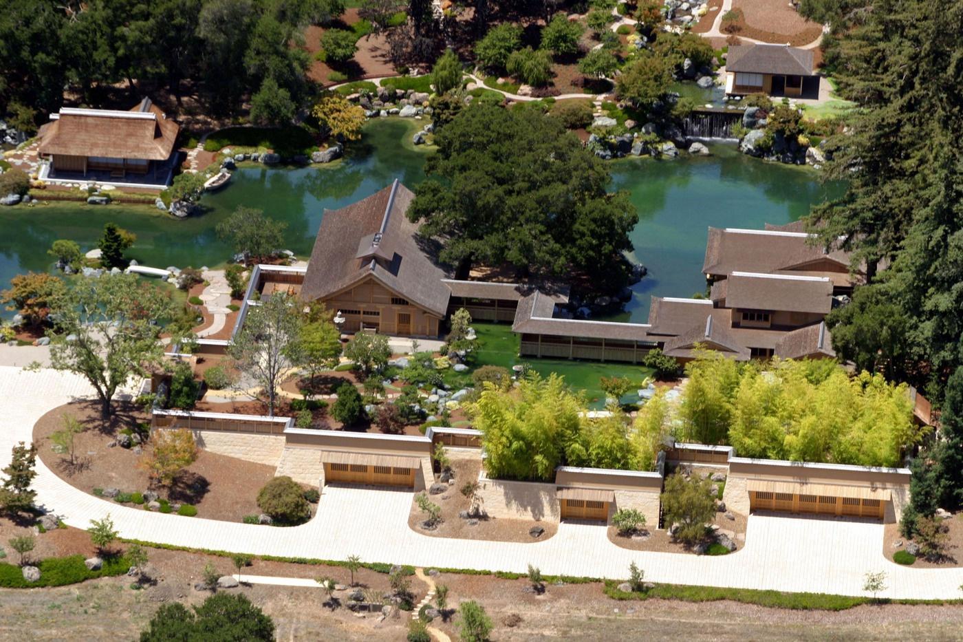 Oracle CEO Larry Ellison's sprawling estate in Woodside, CA
